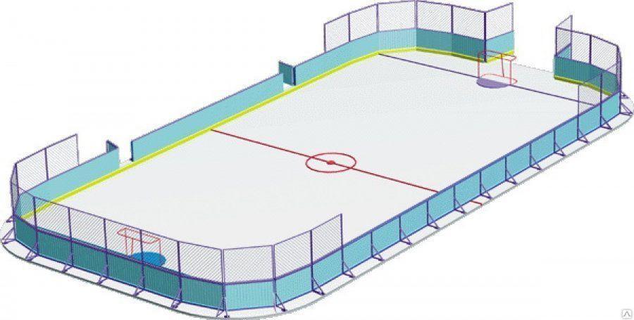 Макет хоккейной коробки